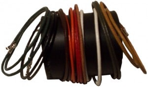 Bracelets double tour cuir rond